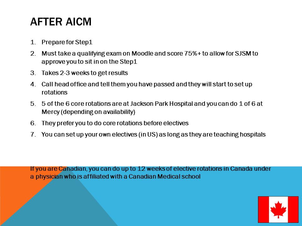 After AICM Prepare for Step1