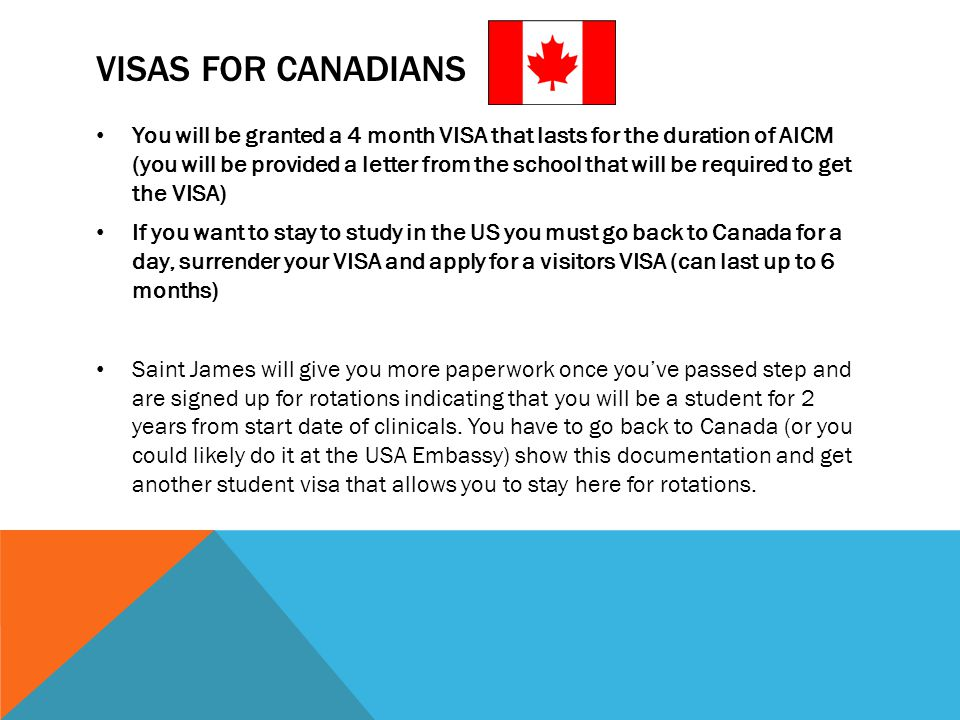 Visas for Canadians