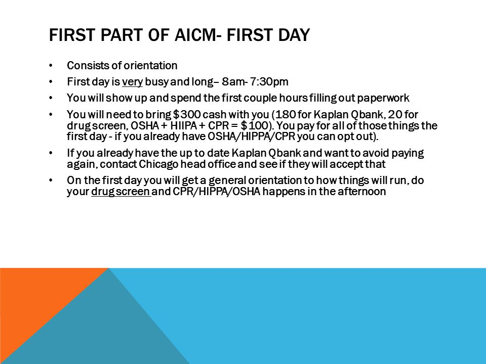 First Part of AICM- first Day