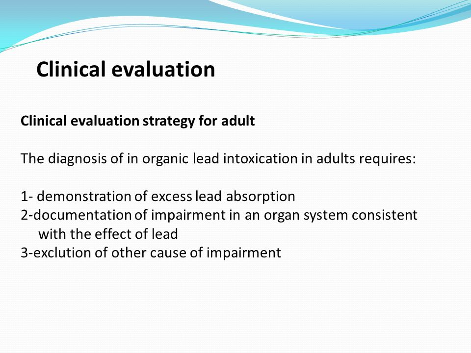 Clinical evaluation Clinical evaluation strategy for adult