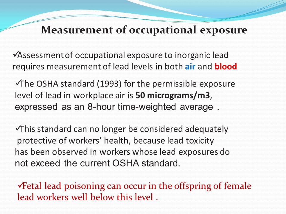 Measurement of occupational exposure