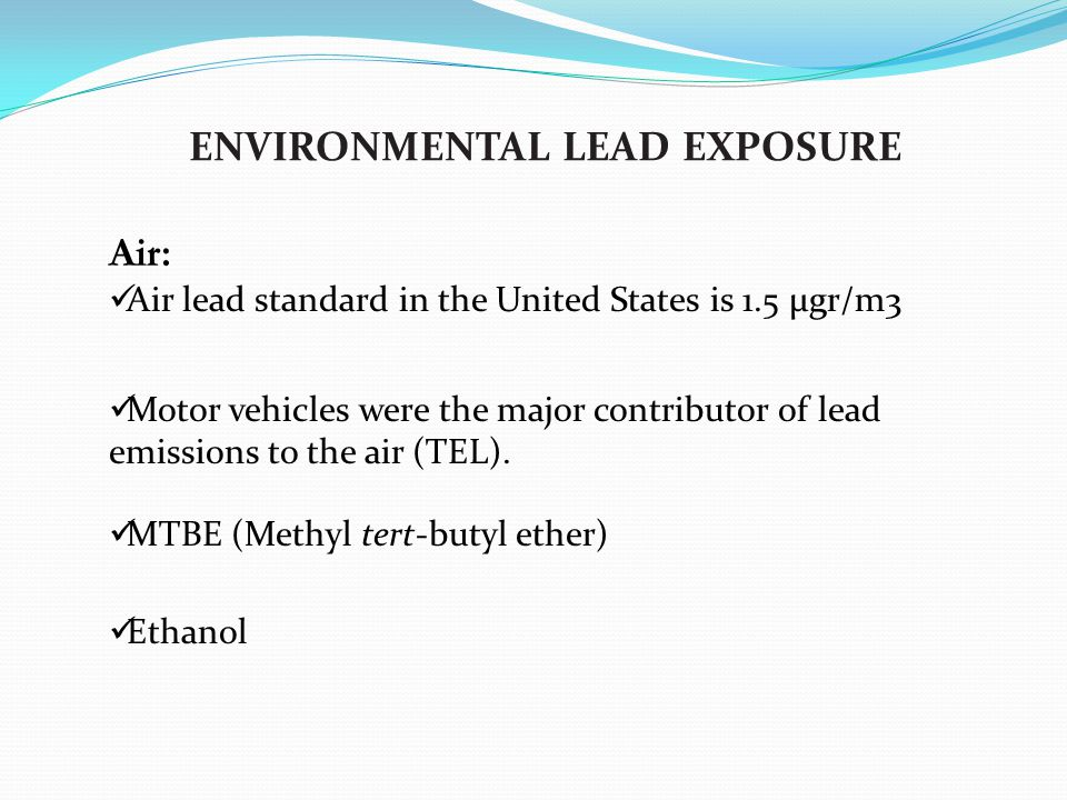 lead symptoms and exposure route Lead absorption can be impacted by route of exposure and is inversely   symptoms or health effects can also appear in the absence of.