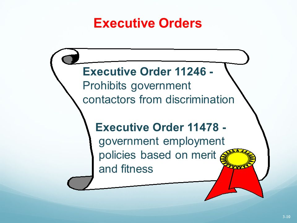 Executive Orders Executive Order 11246 - Prohibits government