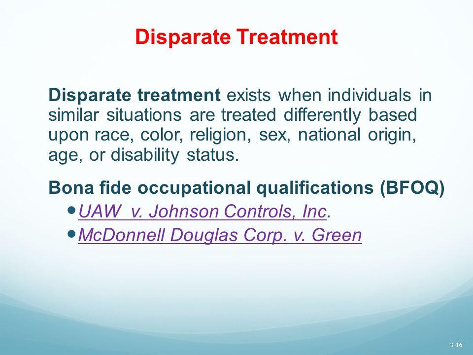 Disparate Treatment