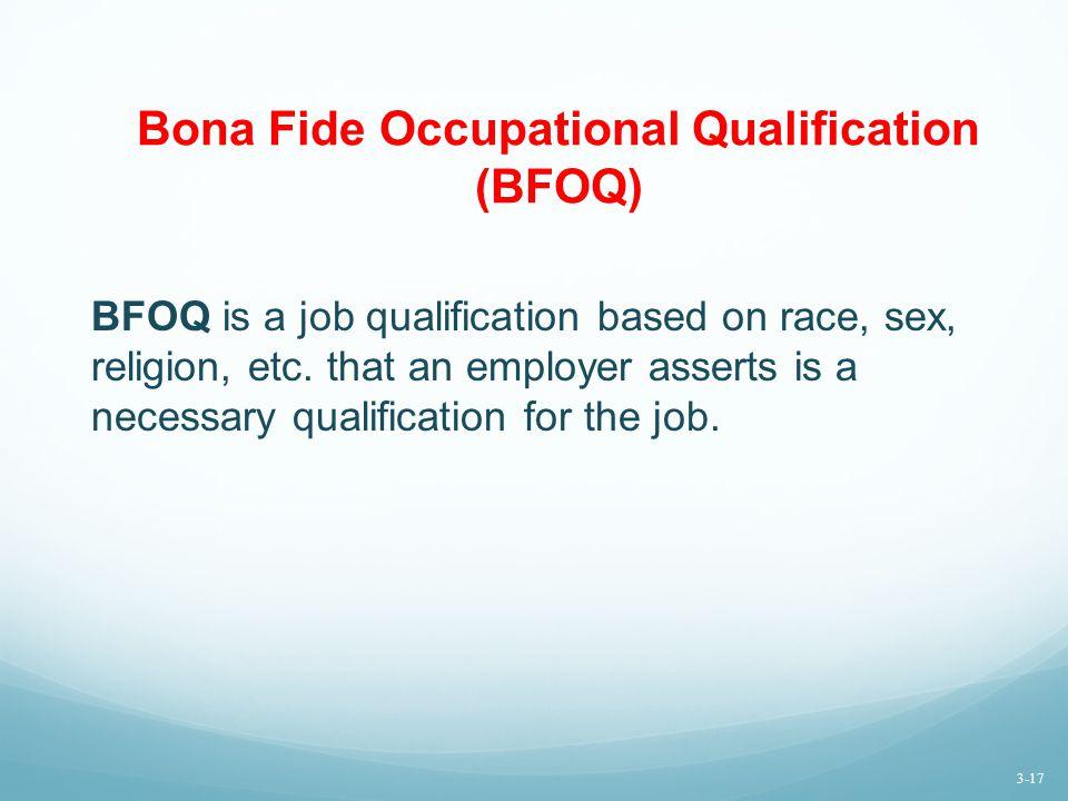 Bona Fide Occupational Qualification (BFOQ)