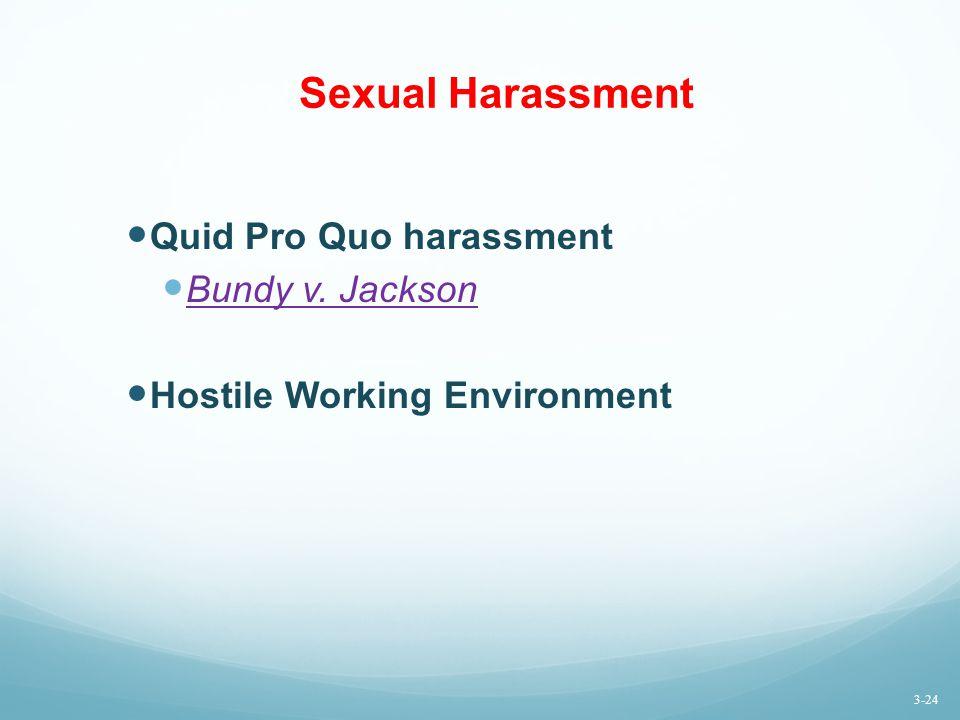 Sexual Harassment Quid Pro Quo harassment Bundy v. Jackson
