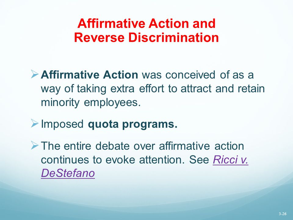 Affirmative Action and Reverse Discrimination