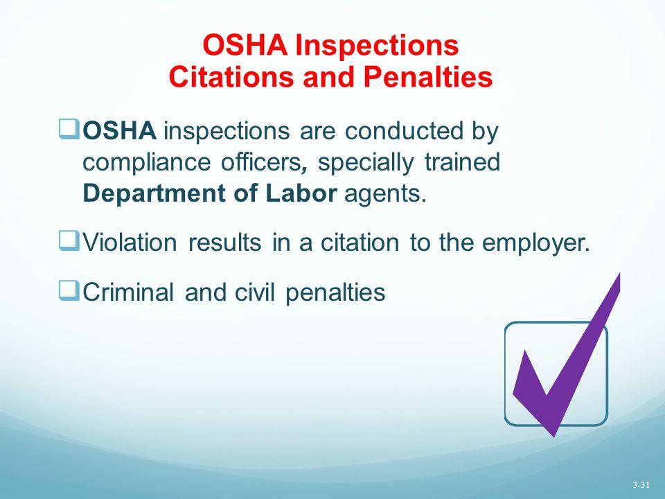 OSHA Inspections Citations and Penalties