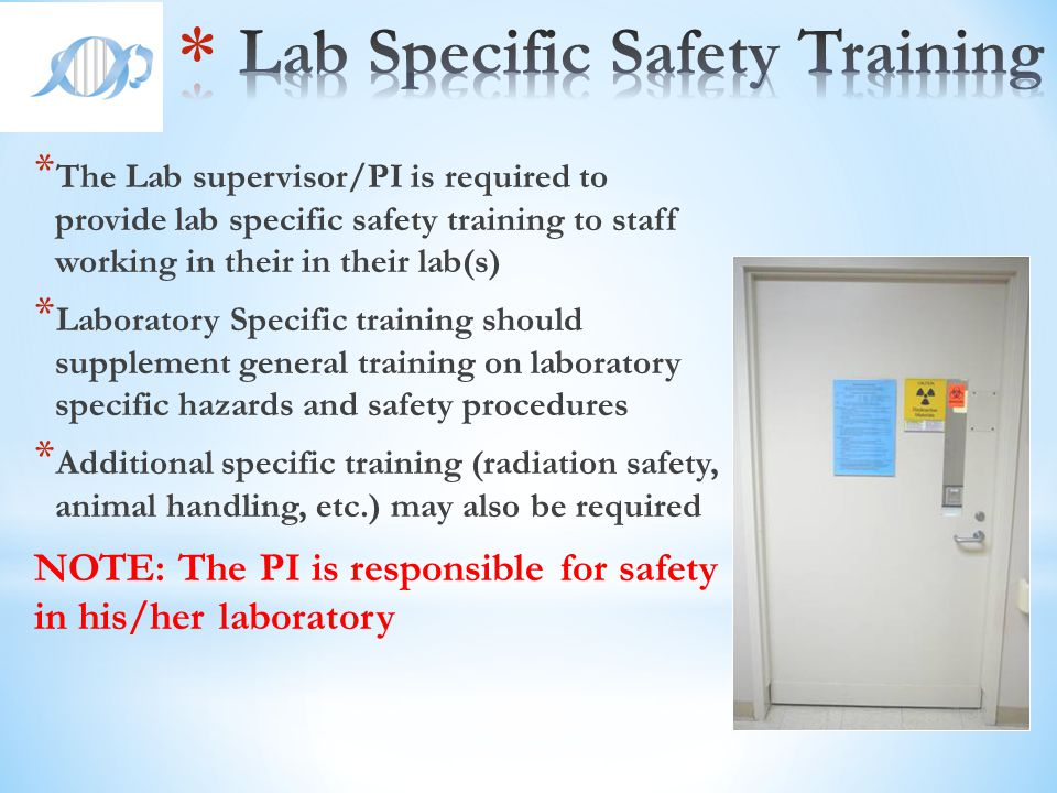 Lab Specific Safety Training