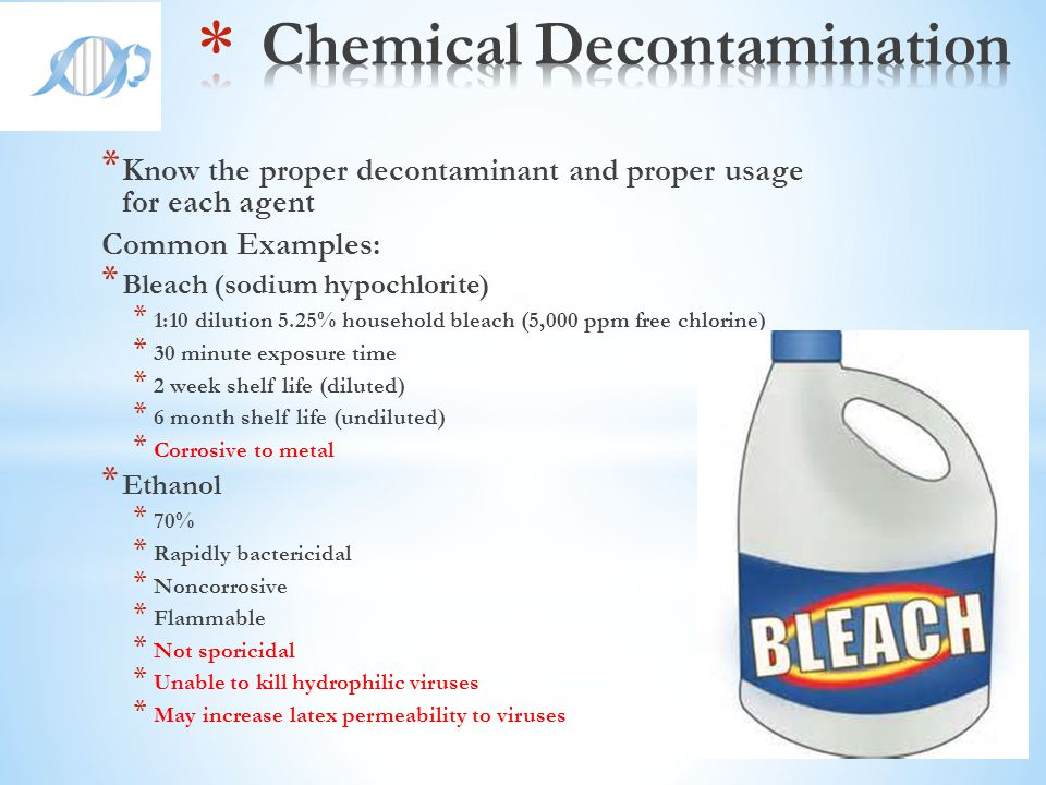 Chemical Decontamination