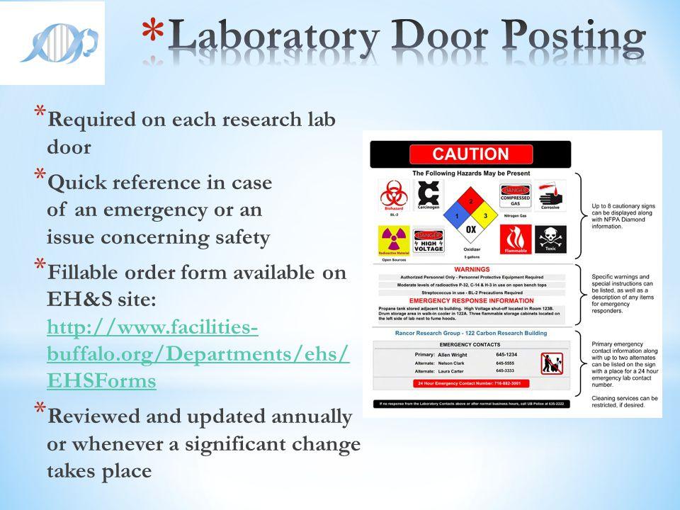 Laboratory Door Posting
