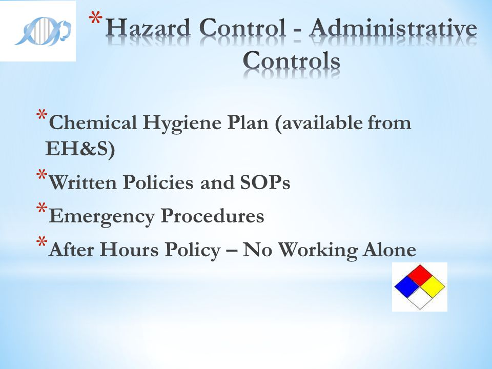Hazard Control - Administrative Controls