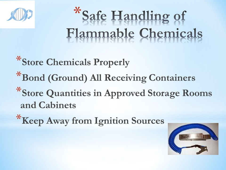 Safe Handling of Flammable Chemicals
