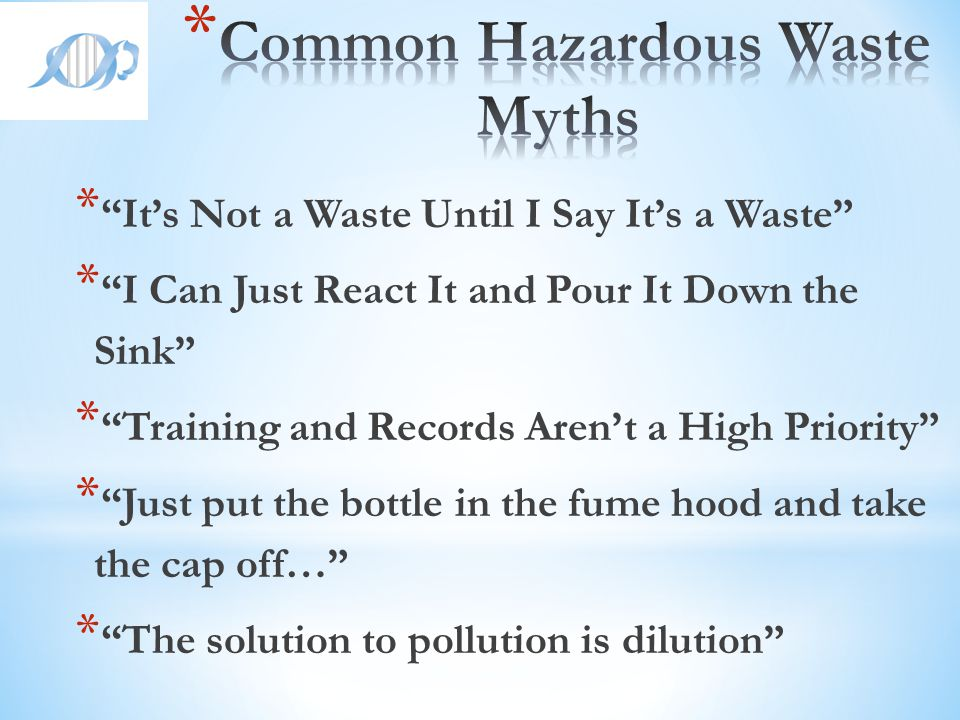 Common Hazardous Waste Myths