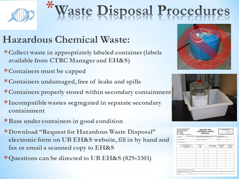 Waste Disposal Procedures