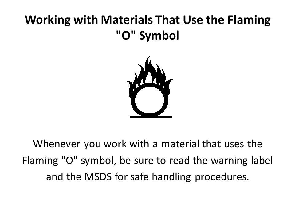 Working with Materials That Use the Flaming O Symbol
