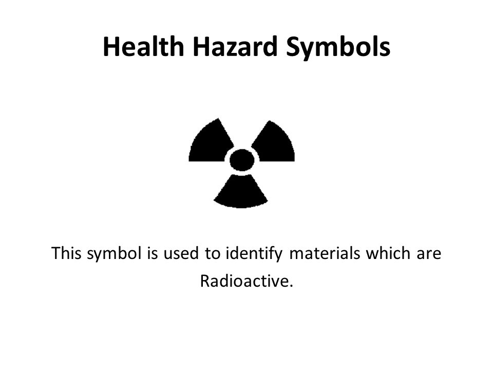 This symbol is used to identify materials which are Radioactive.