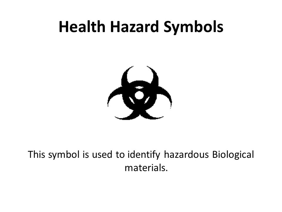 This symbol is used to identify hazardous Biological materials.