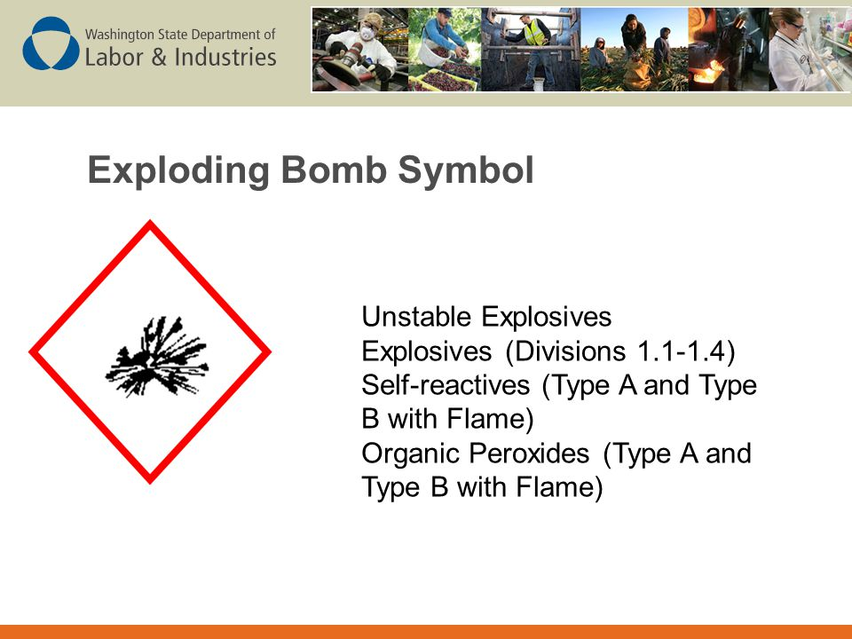 Exploding Bomb Symbol Unstable Explosives