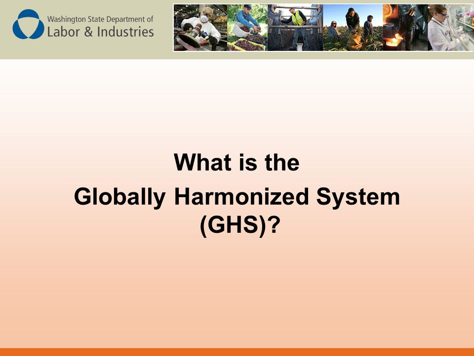 What is the Globally Harmonized System (GHS)