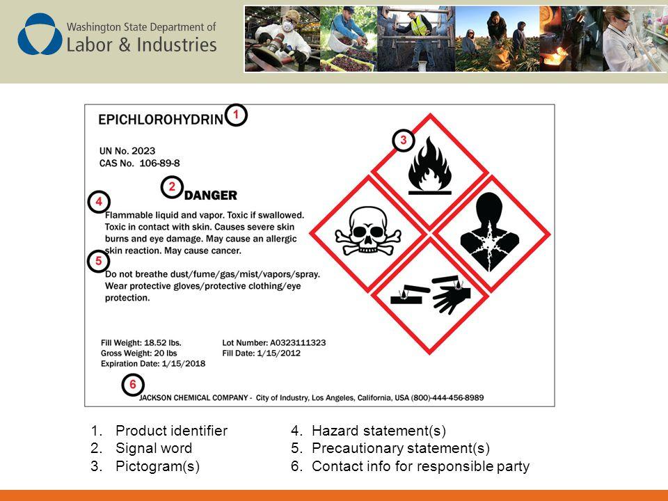 Product identifier 4. Hazard statement(s)