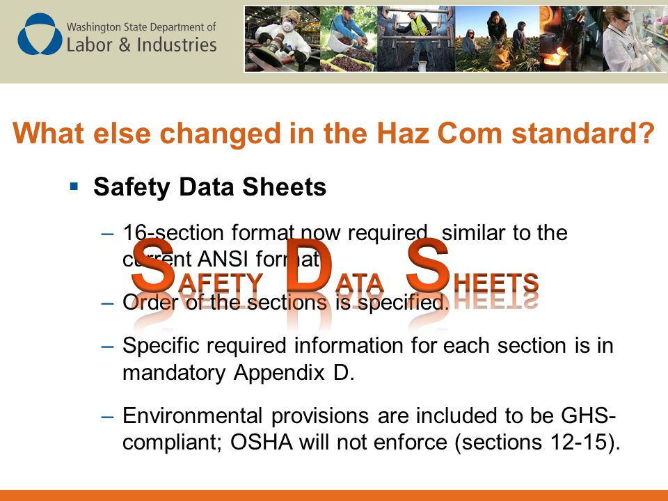 What else changed in the Haz Com standard