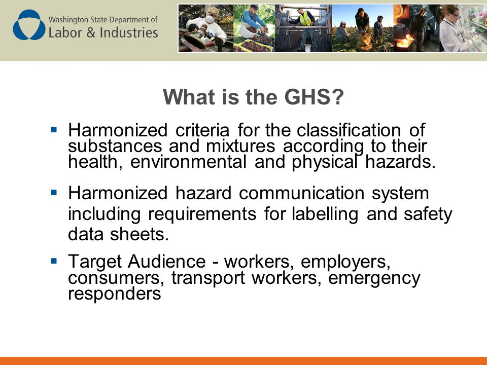What is the GHS Harmonized criteria for the classification of substances and mixtures according to their health, environmental and physical hazards.