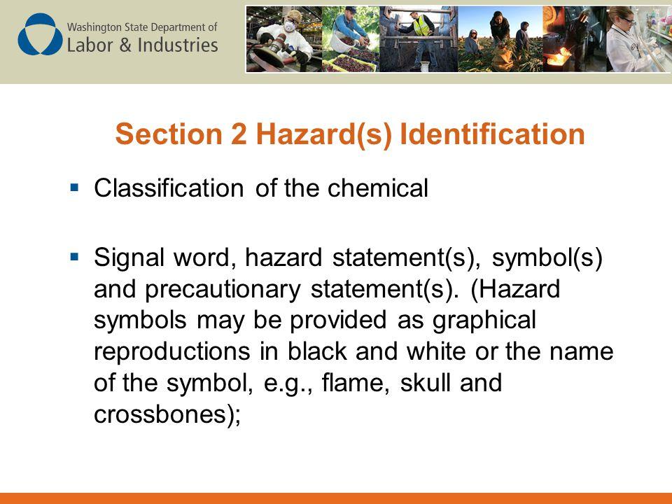 Section 2 Hazard(s) Identification