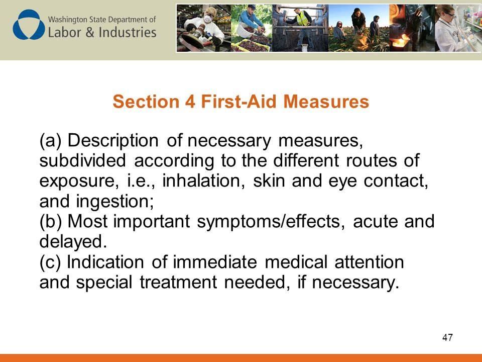 Section 4 First-Aid Measures