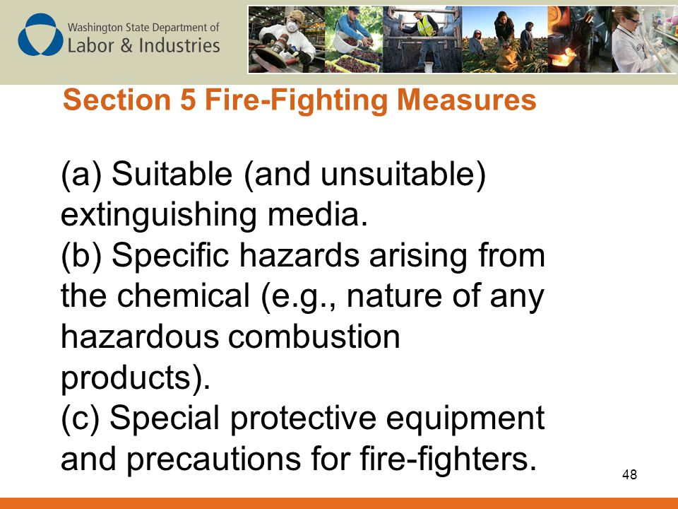 Section 5 Fire-Fighting Measures