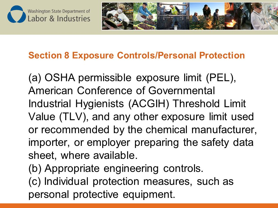 Section 8 Exposure Controls/Personal Protection