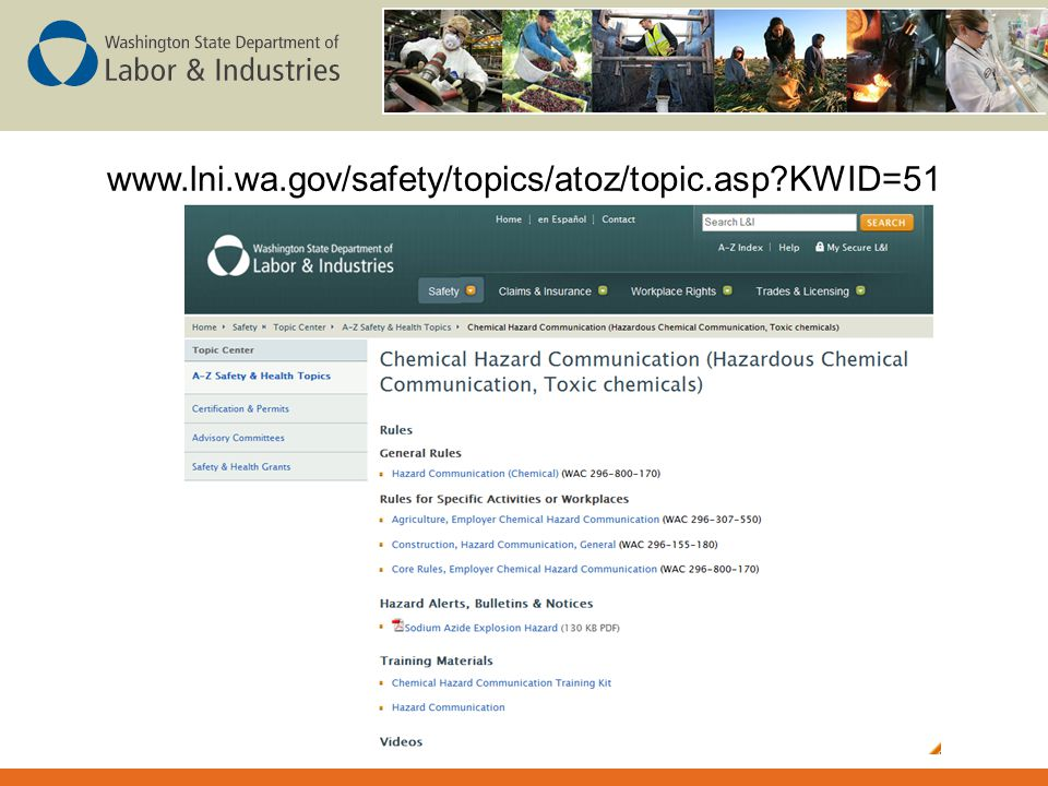 www.lni.wa.gov/safety/topics/atoz/topic.asp KWID=51 When new rule is available, it and related resources will be linked here.