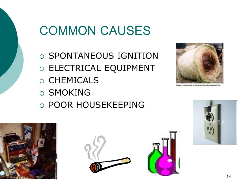COMMON CAUSES SPONTANEOUS IGNITION ELECTRICAL EQUIPMENT CHEMICALS