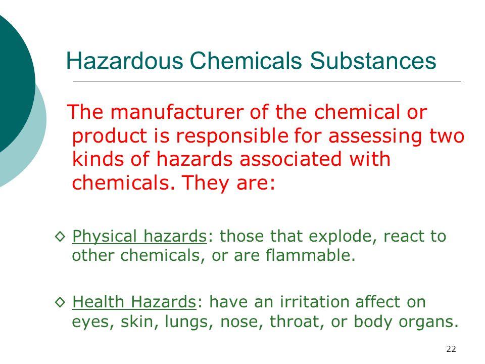 Hazardous Chemicals Substances