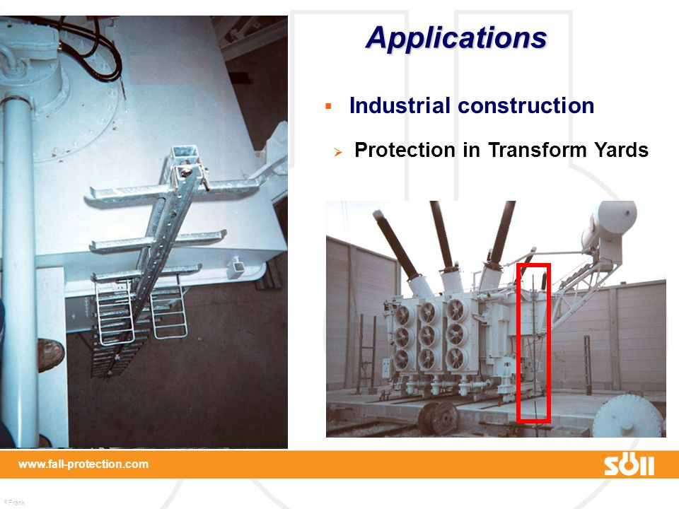 Applications Industrial construction Protection in Transform Yards