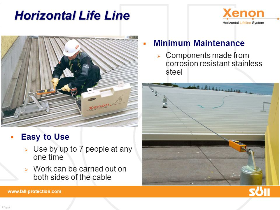 Horizontal Life Line Minimum Maintenance Easy to Use