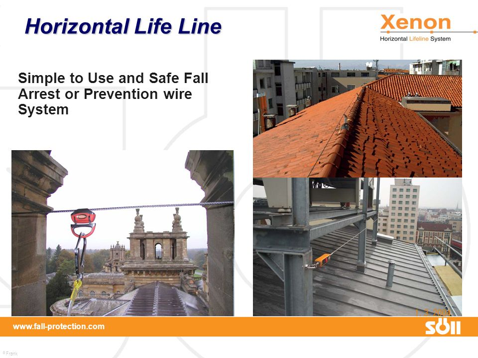 Horizontal Life Line Simple to Use and Safe Fall Arrest or Prevention wire System