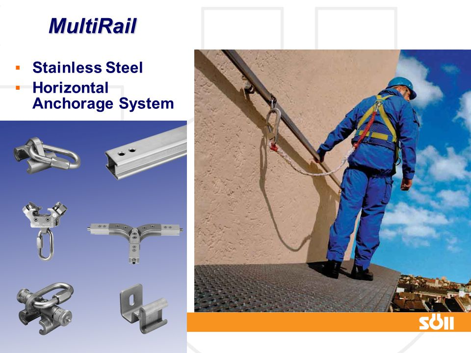 MultiRail Stainless Steel Horizontal Anchorage System