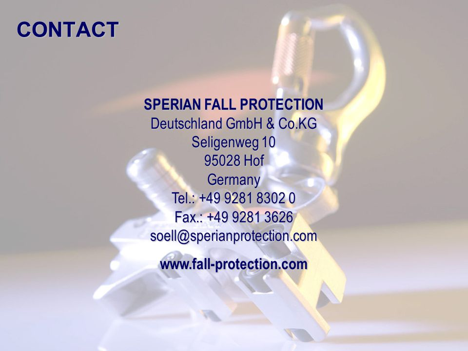 SPERIAN FALL PROTECTION Deutschland GmbH & Co.KG