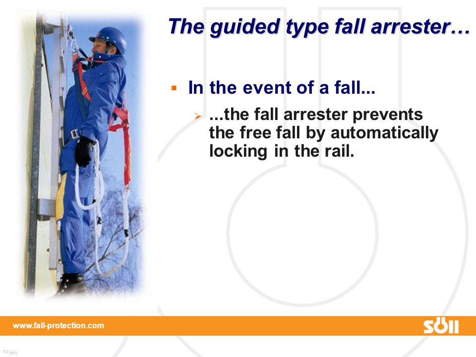 The guided type fall arrester…