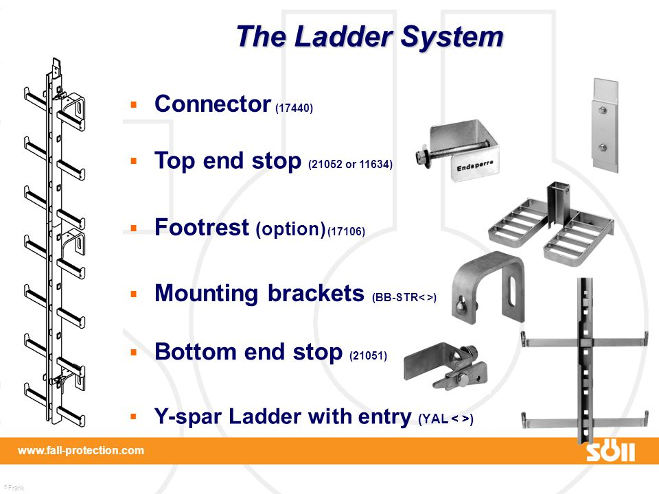 The Ladder System Connector (17440) Top end stop (21052 or 11634)