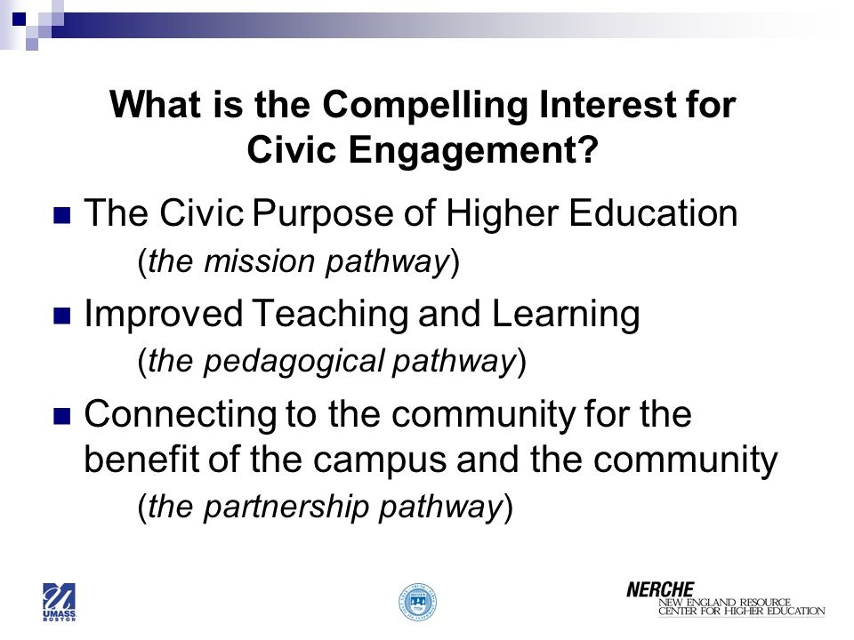 What is the Compelling Interest for Civic Engagement