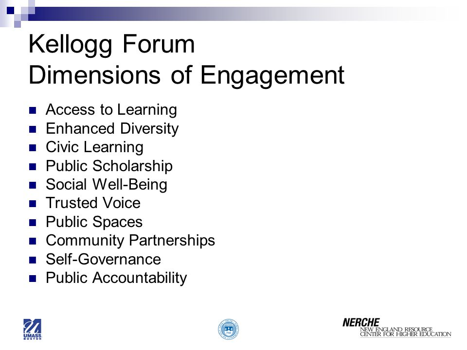 Kellogg Forum Dimensions of Engagement