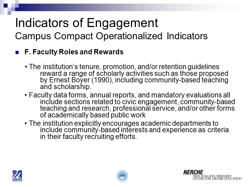 Indicators of Engagement Campus Compact Operationalized Indicators