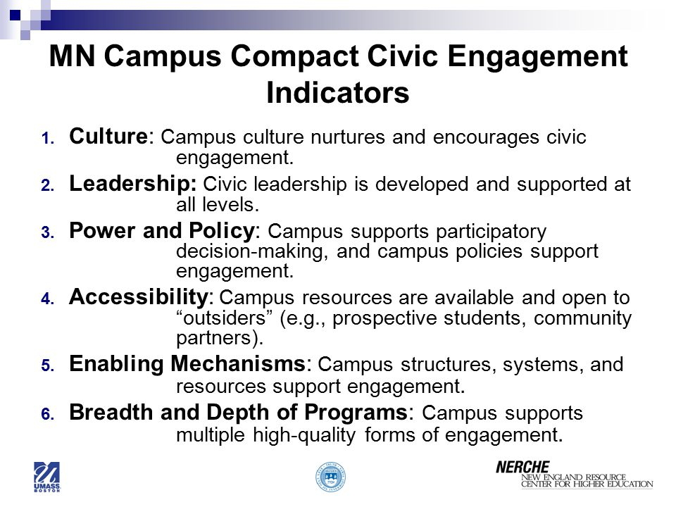 MN Campus Compact Civic Engagement Indicators