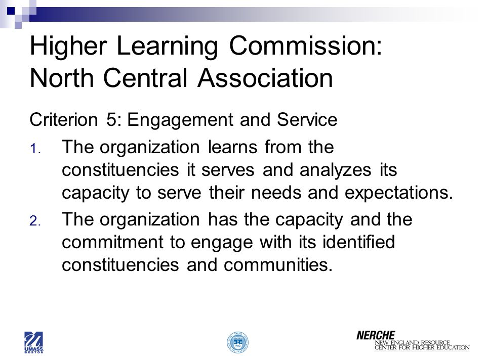 Higher Learning Commission: North Central Association