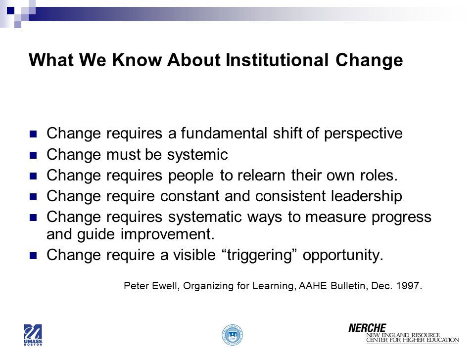 What We Know About Institutional Change