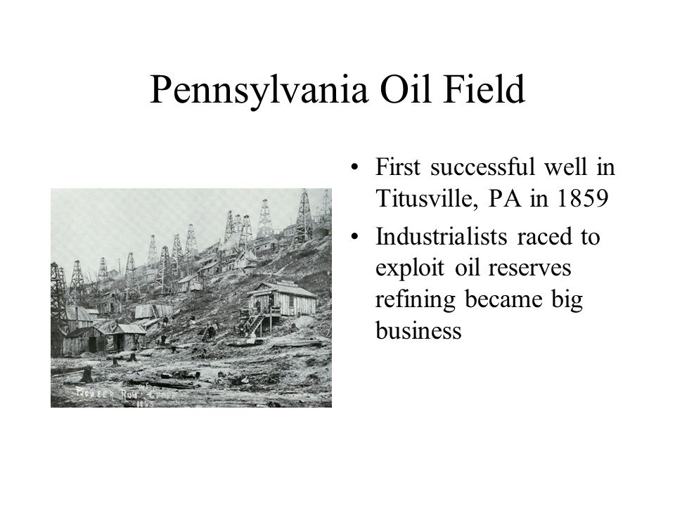 Pennsylvania Oil Field