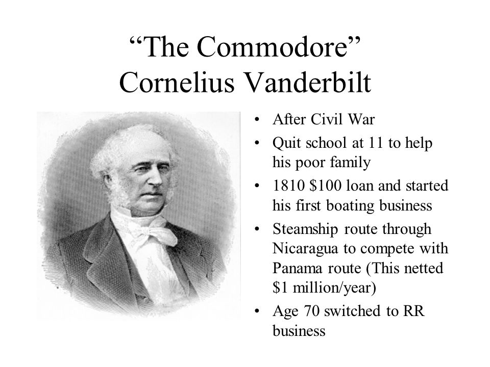 The Commodore Cornelius Vanderbilt