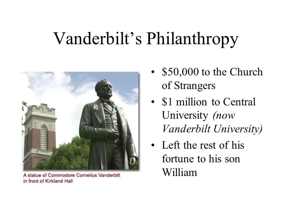 Vanderbilt's Philanthropy
